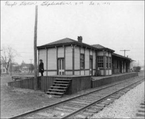 1938 PHOTOGRAPH OF THE FREIGHT STATION IN SHEPHERDSTOWN