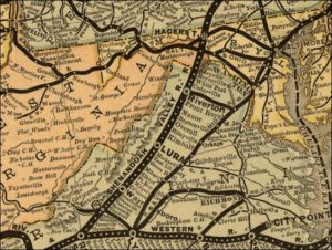1882 MAP OF THE SHENANDOAH VALLEY RAILROAD
